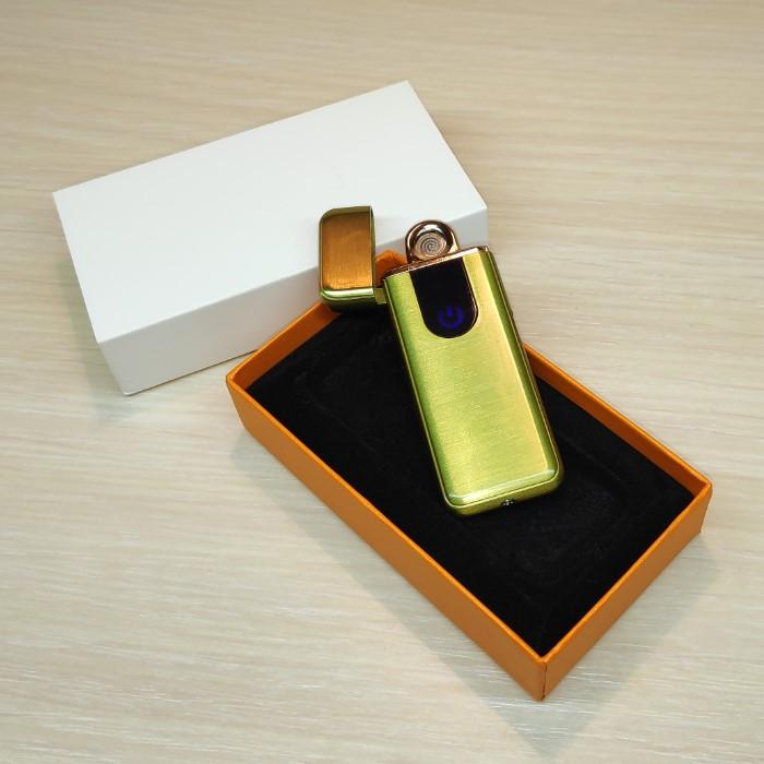 Зажигалка USB золотистая